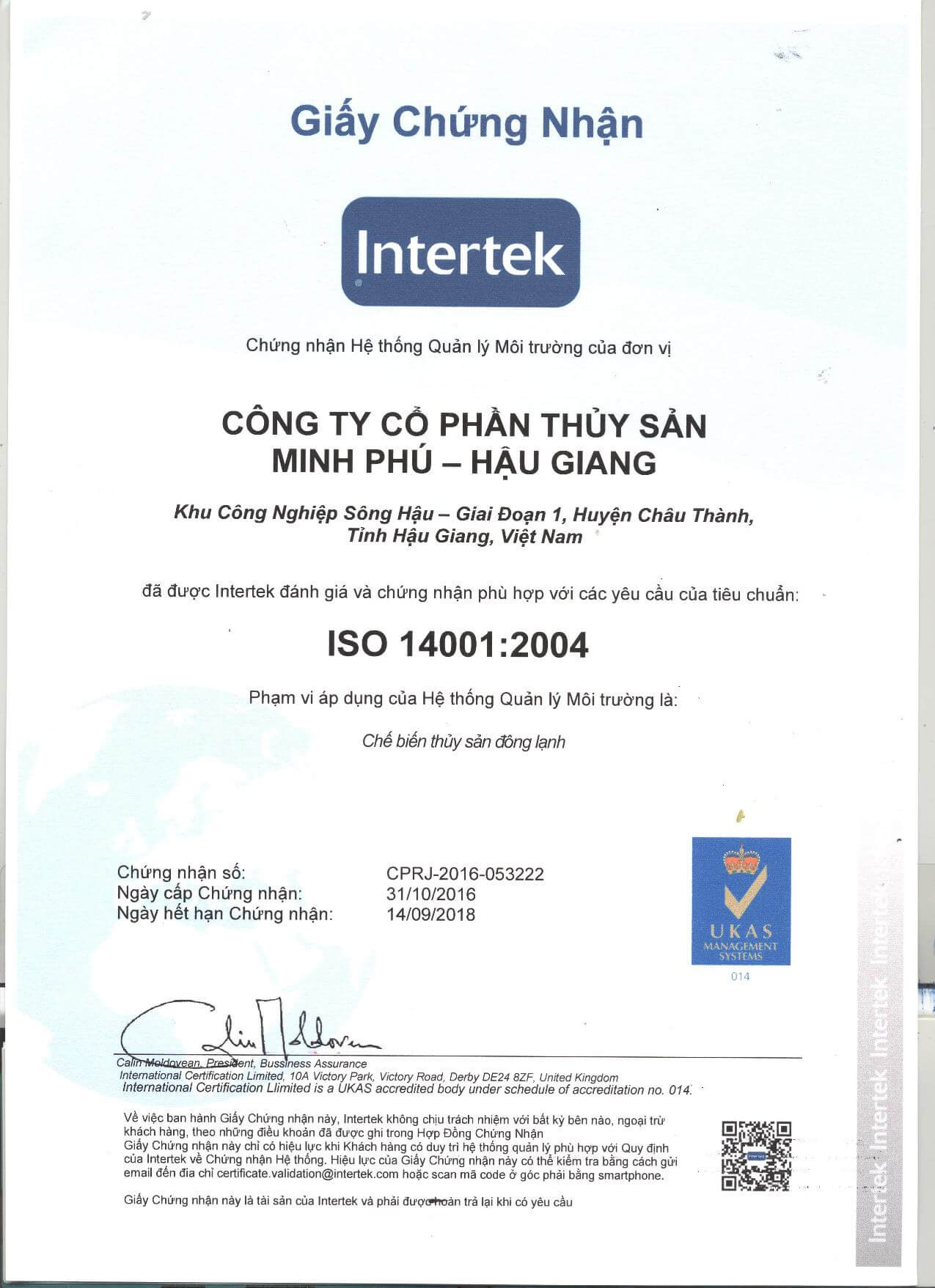 ISO 14001-2004 CERTIFICATE 2016_p1